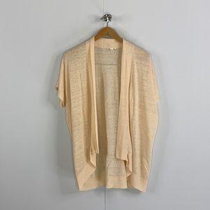 Eileen Fisher Organic Linen Open Cardigan